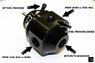 AEM 25-302BK Регулятор давления топлива универсальный, 20-150 psi (Black Anodized)